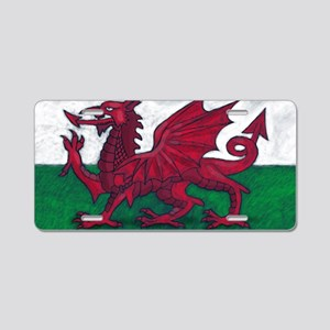 Wales Flag Aluminum License Plate